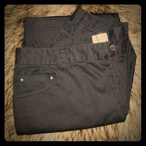CHICO'S Black Pants with rhinestones sz 1.5